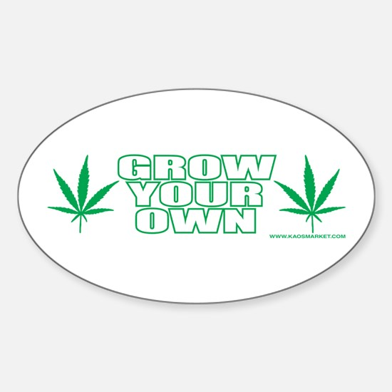 Grow Your Own Oval Decal