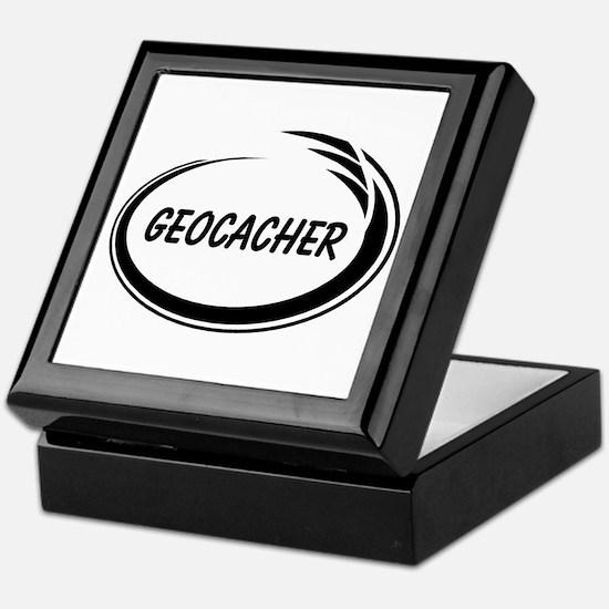 Black Geocacher Pizzaz Keepsake Box