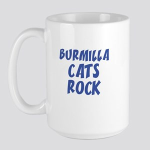 BURMILLA CATS ROCK Large Mug