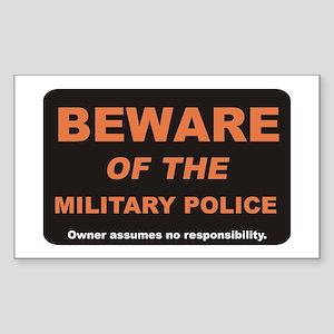 Beware / Military Policeman Rectangle Sticker
