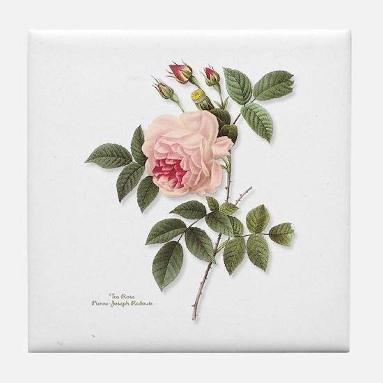 Tea Rose Tile Coaster