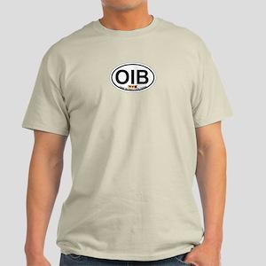 Ocean Isle Beach NC - Oval Design Light T-Shirt