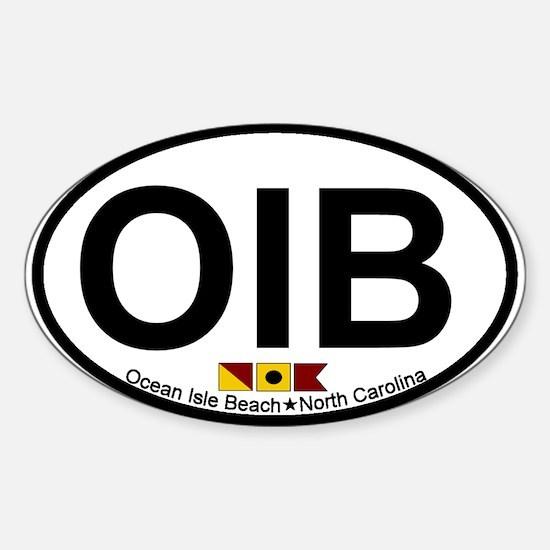 Ocean Isle Beach NC - Oval Design Sticker (Oval)