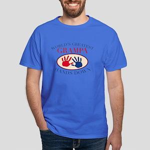 Best Grampa Hands Down Dark T-Shirt
