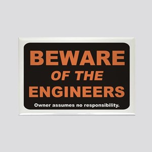 Beware / Engineer Rectangle Magnet