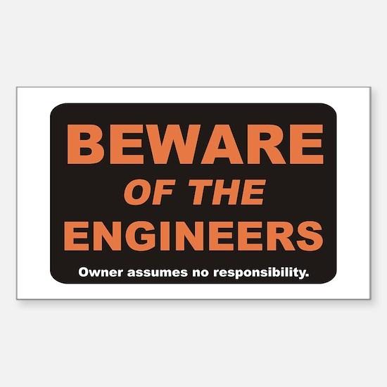 Beware / Engineer Rectangle Decal