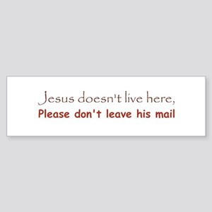 No soliciting, Jesus