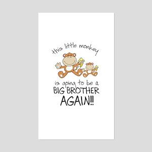big brother t-shirts monkey Rectangle Sticker