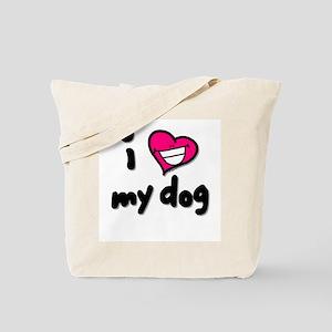 I Heart My Dog Tote Bag