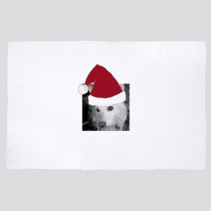 Your Photo with a Santa Hat 4' x 6' Rug