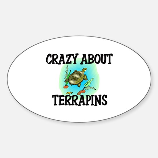 Crazy About Terrapins Oval Decal