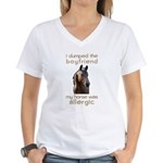 Boyfriend Allergic Horse Women's V-Neck T-Shirt