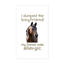 Boyfriend Allergic Horse Rectangle Sticker