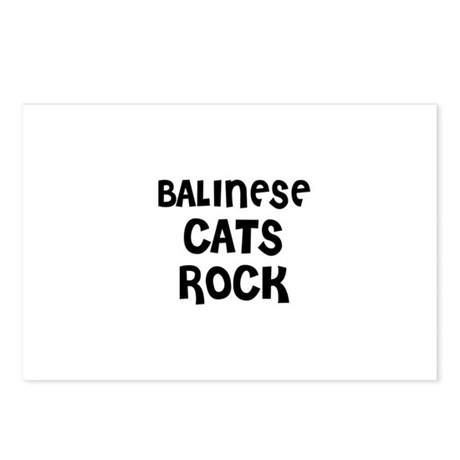 BALINESE CATS ROCK Postcards (Package of 8)