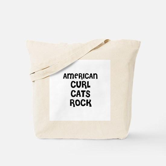 AMERICAN CURL CATS ROCK Tote Bag