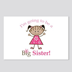 Ethnic Big Sister To Be Postcards (Package of 8)