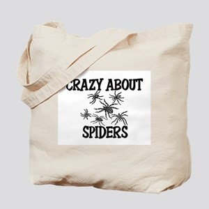 Crazy About Spiders Tote Bag