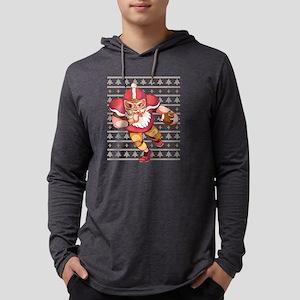 Santa Claus Football Player Long Sleeve T-Shirt