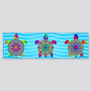 Colorful Sea Turtle Sticker (Bumper)