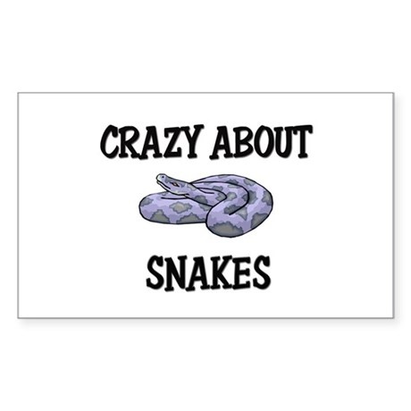 Crazy About Snakes Rectangle Sticker