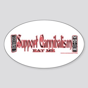 Support Cannibalism, Eat Me Oval Sticker
