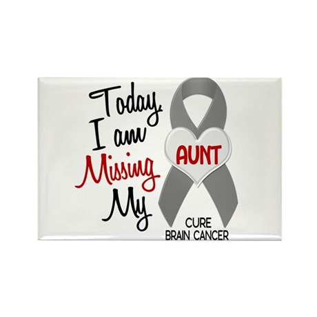 Missing 1 Aunt BRAIN CANCER Rectangle Magnet (10 p