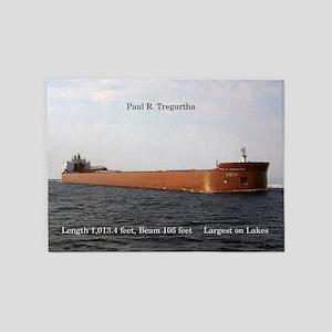 Paul R. Tregurtha 5'x7'area Rug