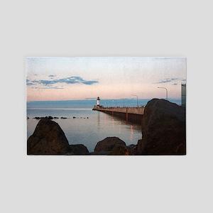 Duluth Harbor North Pier Light Area Rug
