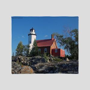 Eagle Harbor Lighthouse Throw Blanket