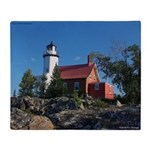 Eagle Harbor Lighthouse Throw Blanket