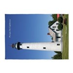 Presque Isle Lightouse 5'x7'area Rug
