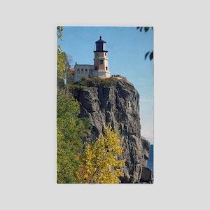 Split Rock Lighthouse Lake View Area Rug