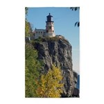Split Rock Lighthouse Lake View Area Rug