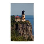 Split Rock Lighthouse Top View Area Rug