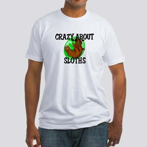 Crazy About Sloths Fitted T-Shirt