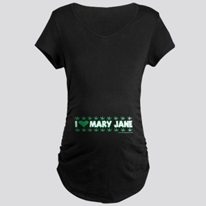 I Love Mary Jane Maternity Dark T-Shirt