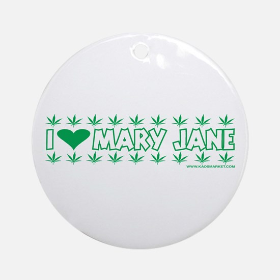 I Love Mary Jane Ornament (Round)