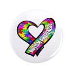 """Puzzle Ribbon Heart 3.5"""" Button (100 pack)"""