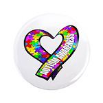 "Puzzle Ribbon Heart 3.5"" Button"