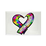 Puzzle Ribbon Heart Rectangle Magnet (100 pack)