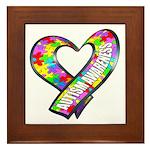 Puzzle Ribbon Heart Framed Tile