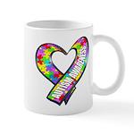 Puzzle Ribbon Heart Mug