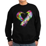 Puzzle Ribbon Heart Sweatshirt (dark)