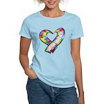 Puzzle Ribbon Heart Women's Light T-Shirt