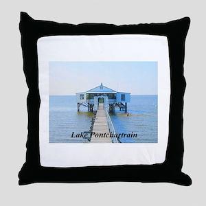 Lake Pontchartrain Camp (Six Throw Pillow