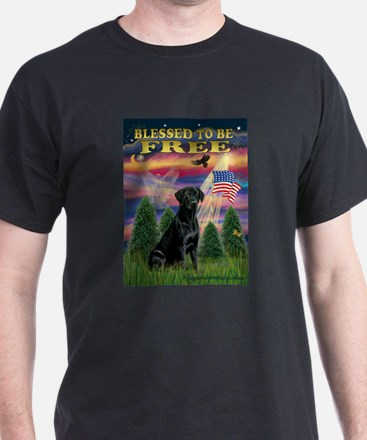Blessed to be Free Black Lab T-Shirt