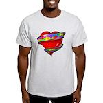 Red Heart w/ Ribbon Light T-Shirt