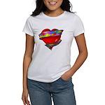 Red Heart w/ Ribbon Women's T-Shirt