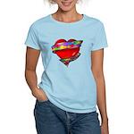 Red Heart w/ Ribbon Women's Light T-Shirt