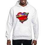 Red Heart w/ Ribbon Hooded Sweatshirt